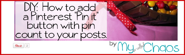 How to add a Pinterest Pin It Button to your posts DIY Tutorial