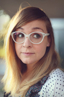 Amanda from Little Lady Little City with awesome glasses