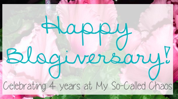 Happy Blogiversary My So-Called Chaos!