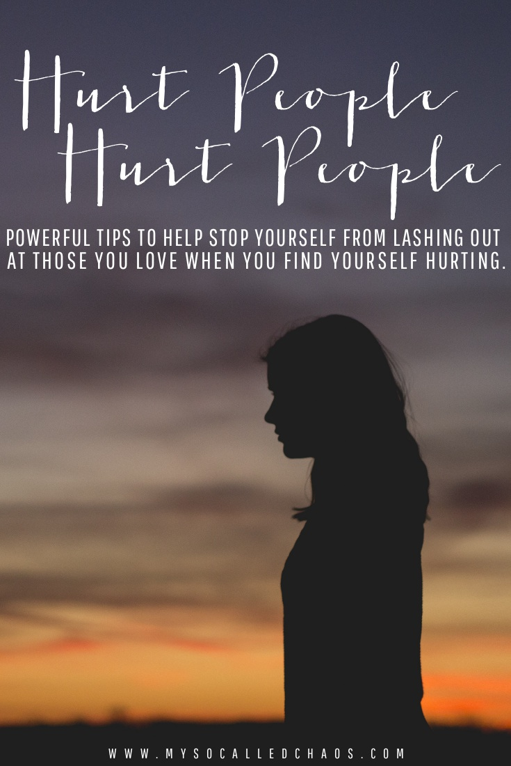 Powerful tips to help stop yourself from lashing out at those you love when you find yourself hurting.