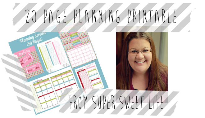 Win a 20 Page Planning Printable