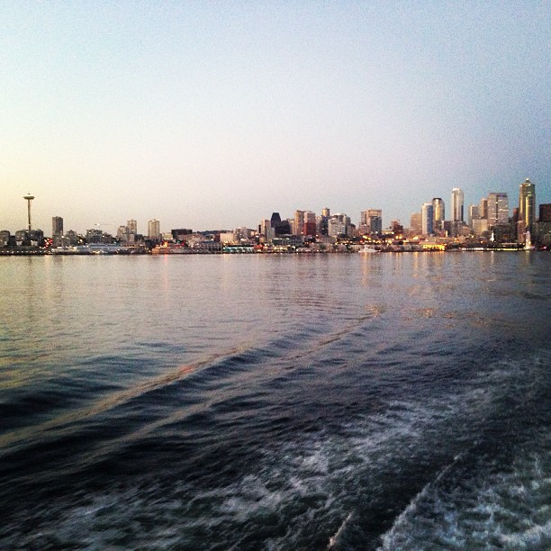 View leaving Seattle on the ferry