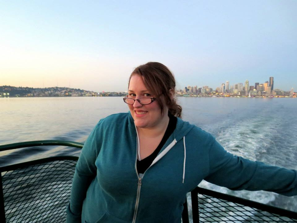 Me on the ferry leaving Seattle.