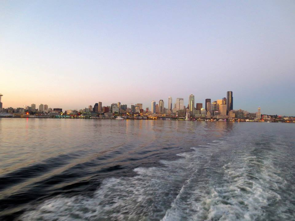 View leaving Seattle on the ferry.