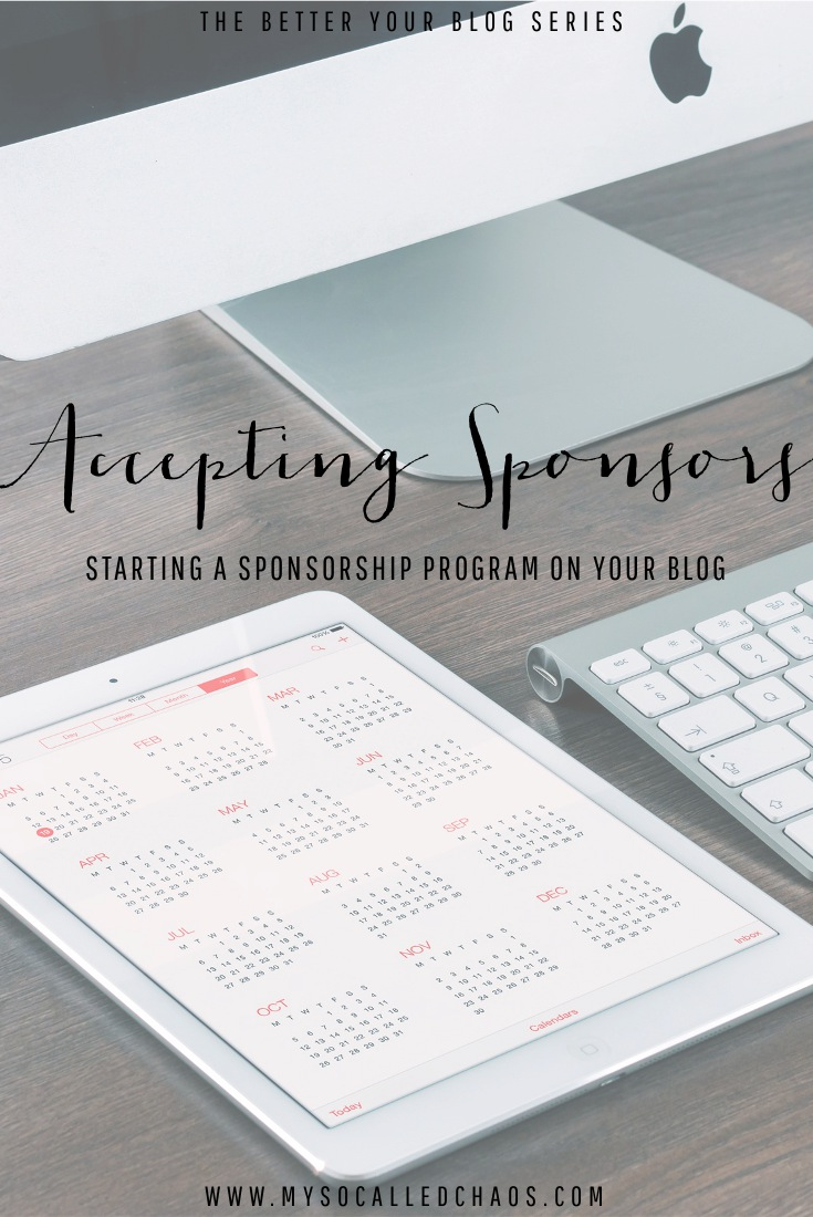 Better Your Blog |  Accepting Sponsors