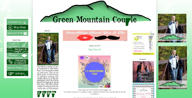 Green Mountain Couple Blog Design