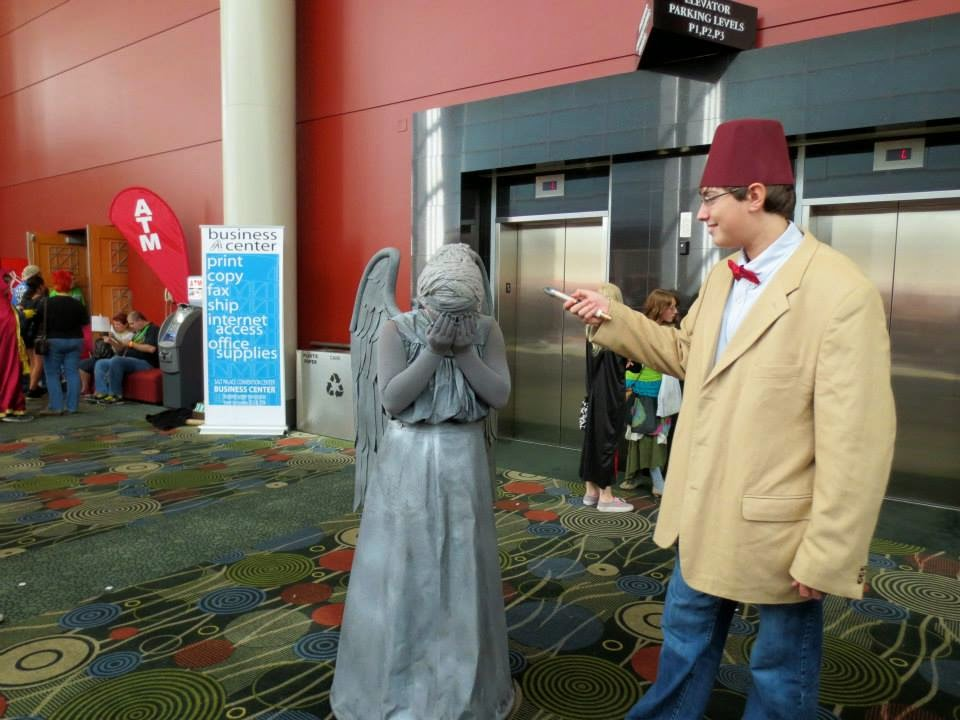 Doctor Who & Weeping Angel Cosplay at Salt Lake ComicCon 2013