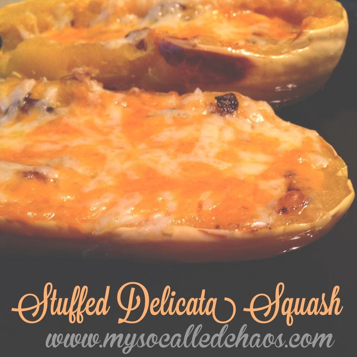 Cheesy Curried Mushroom & Onion Stuffed Delicata Squash