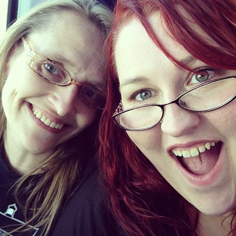 Heather and Me on the Fun Bus