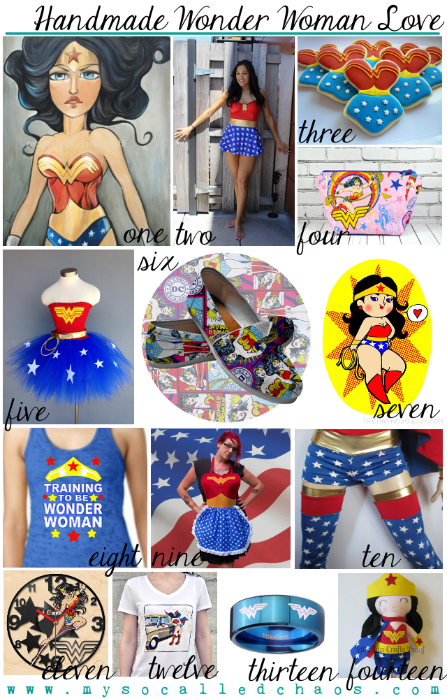 Handmade Wonder Woman Love