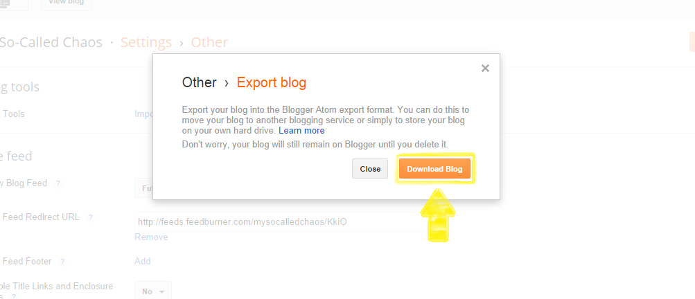 How to Back Up Your Blogger Blog Step 4