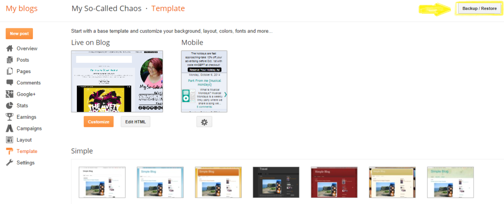 How to Back Up Your Blogger Template Step 2