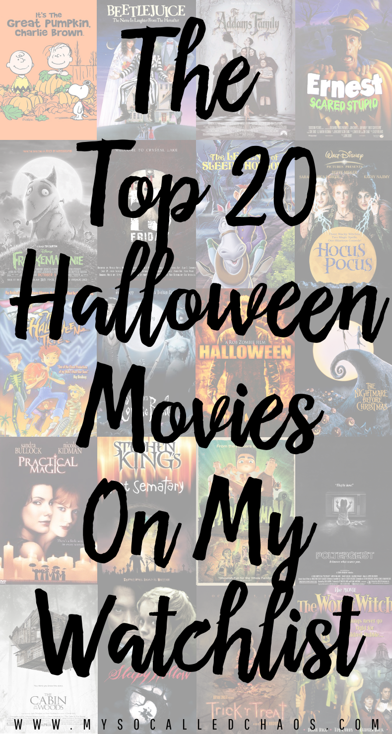Top 20 Movies on My Halloween Watchlist