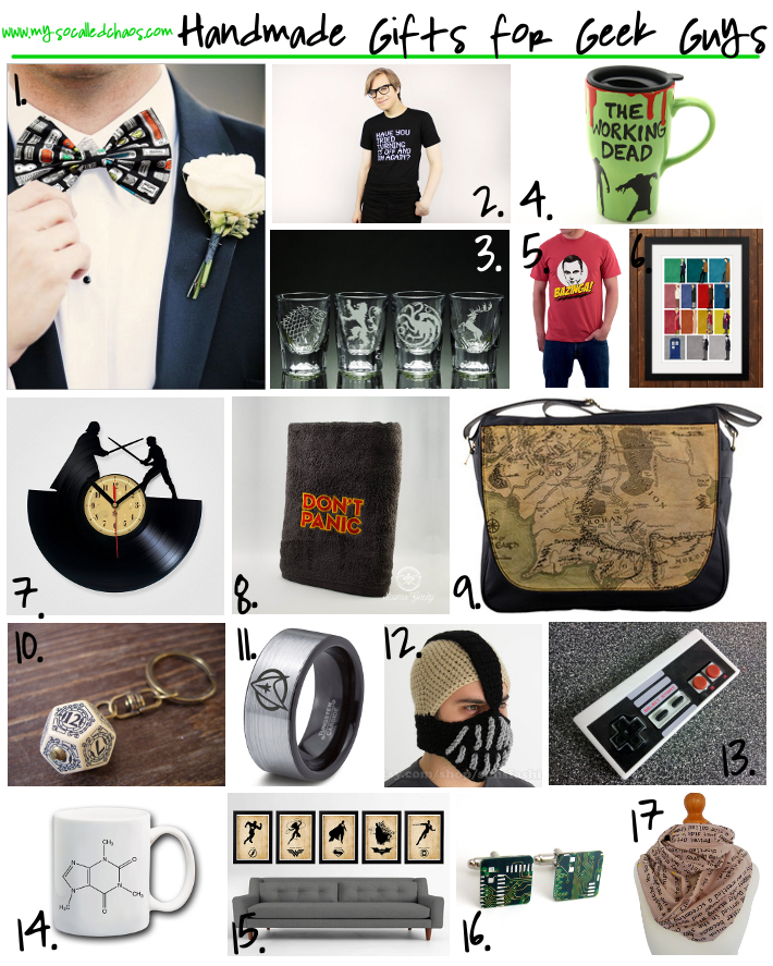 Holiday Gift Guide: Handmade Gifts for Geek Guys