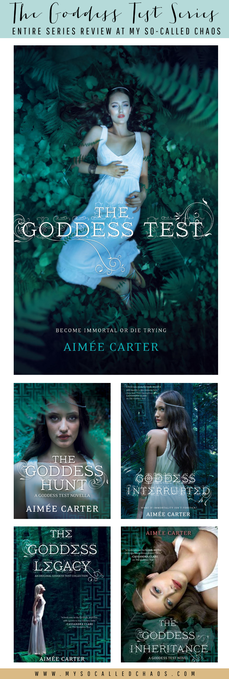 Book Review of the Entire Goddess Test Series by Aimee Carter