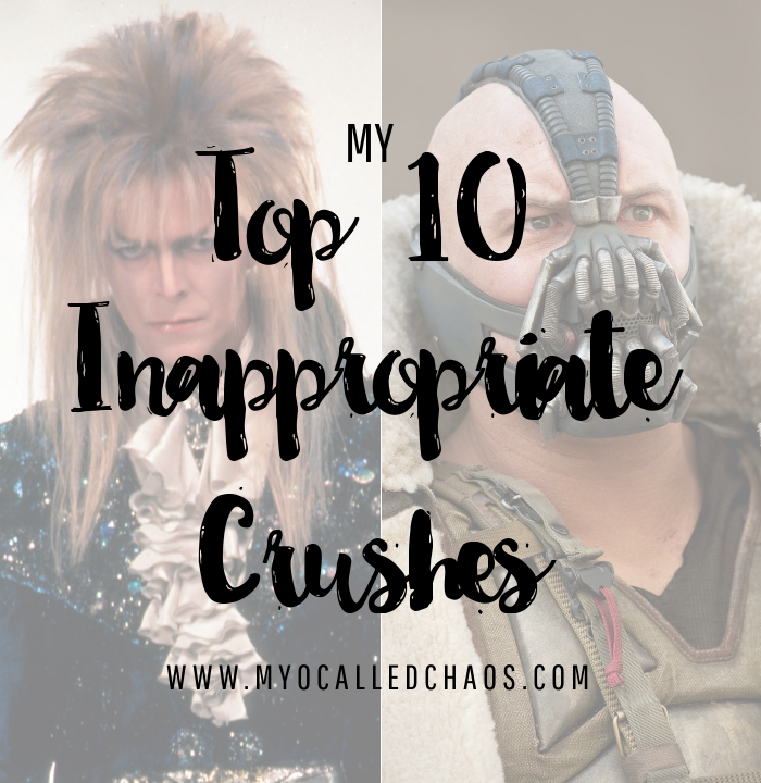 My Top 10 Inappropriate Fictional Crushes