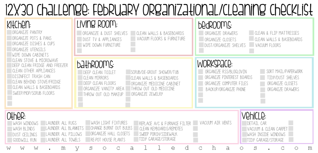 Get organized this February with daily tasks!