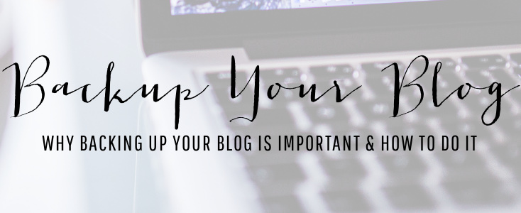 Back Up Your Blog