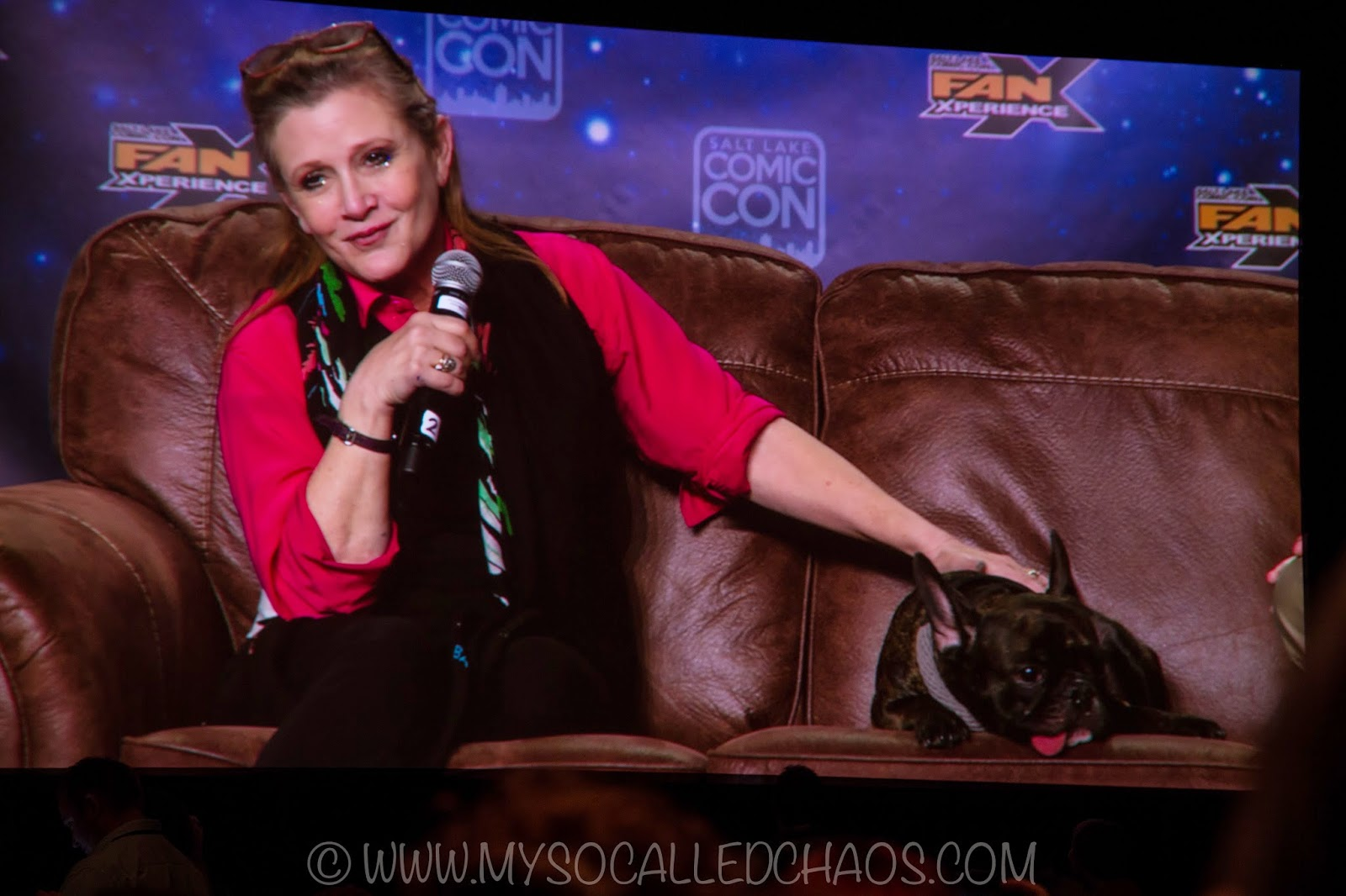 Carrie Fisher at Salt Lake Comic Con FanX 2015 #FanX15