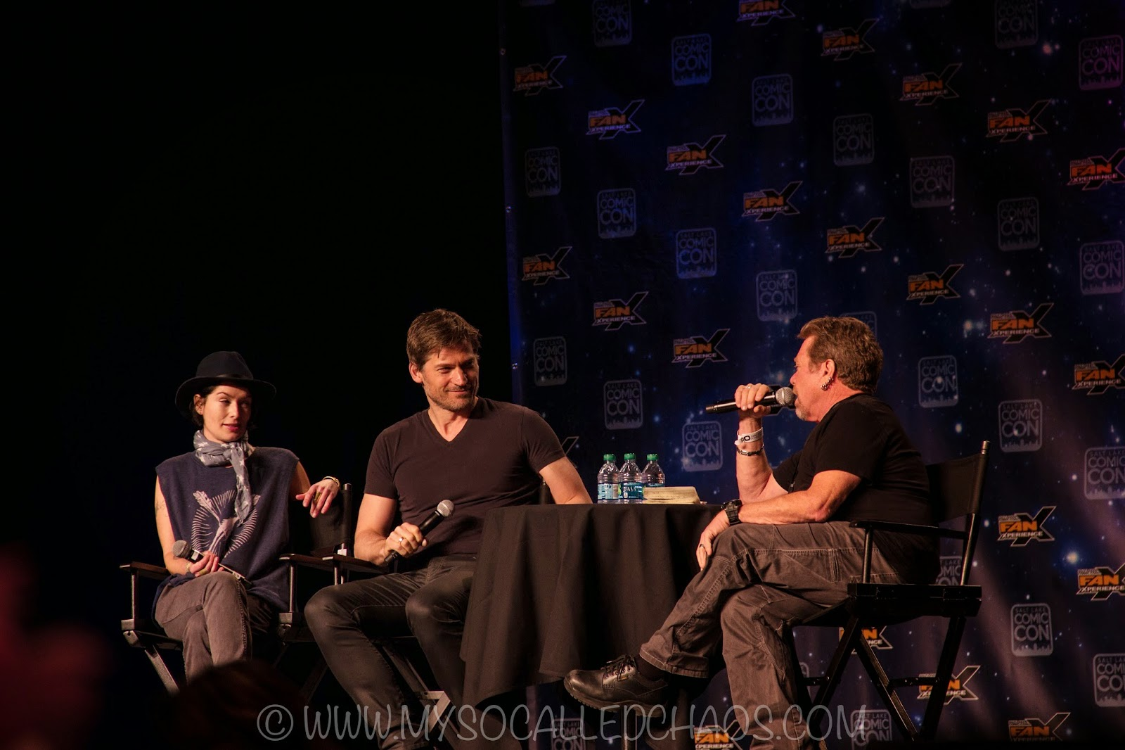 Lena Headey and Nikolaj Coster-Waldau at Salt Lake Comic Con FanX15 #FanX15
