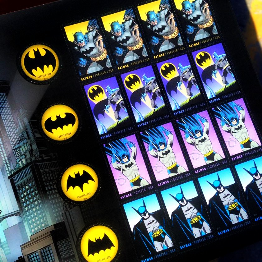 Batman Stamps are now available at your local PO!