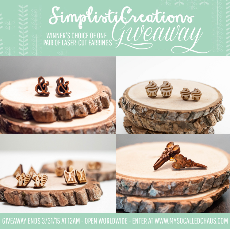 Giveaway: Meet Kat of SimplistiCreations & Enter to Win Laser Cut Wood Earrings