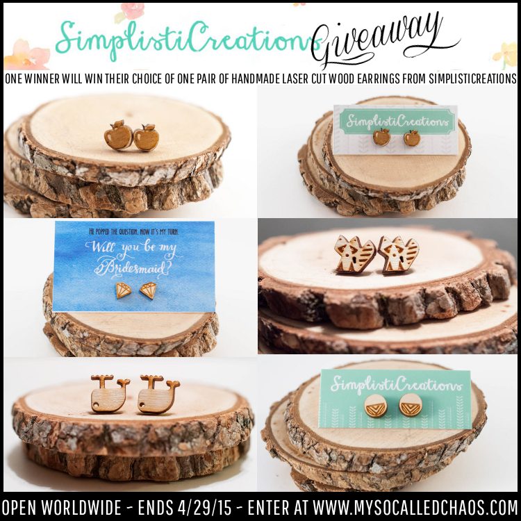 Giveaway: Enter to Win Handmade Laser-Cut Wood Earrings