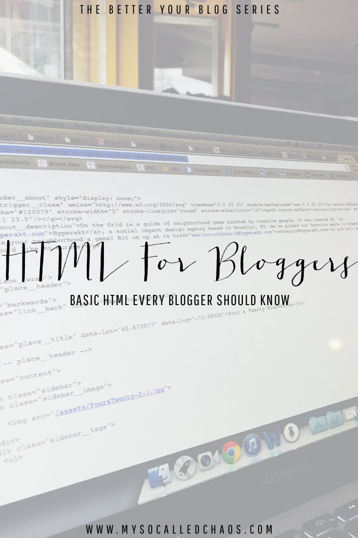 Basic HTML Every Blogger Should Know.