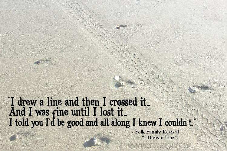 I Drew a Line and Then I Crossed It…