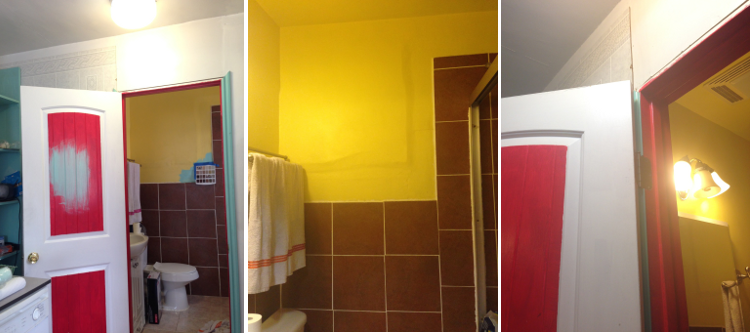 Ugly Yellow Bathroom Before