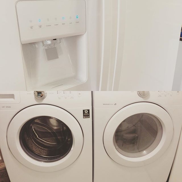 Fridge, Washer, and Dryer
