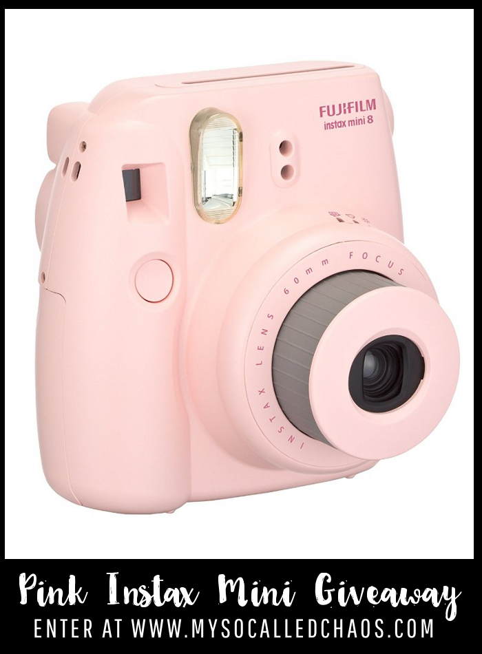 Enter to win a Pink Instax Mini