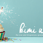 Happy Blogiversary Kimi Who! + $100 Amazon Gift Card Giveaway