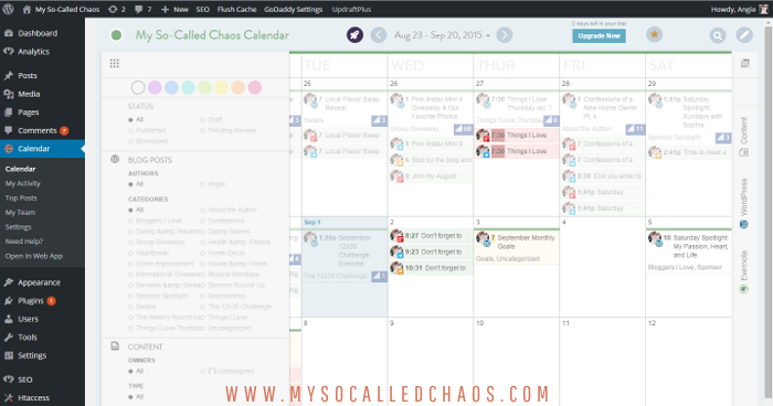 Accessing the Co-Schedule Calendar from WordPress