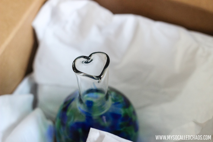 Create Luv Blue and Green Global Luv Vase