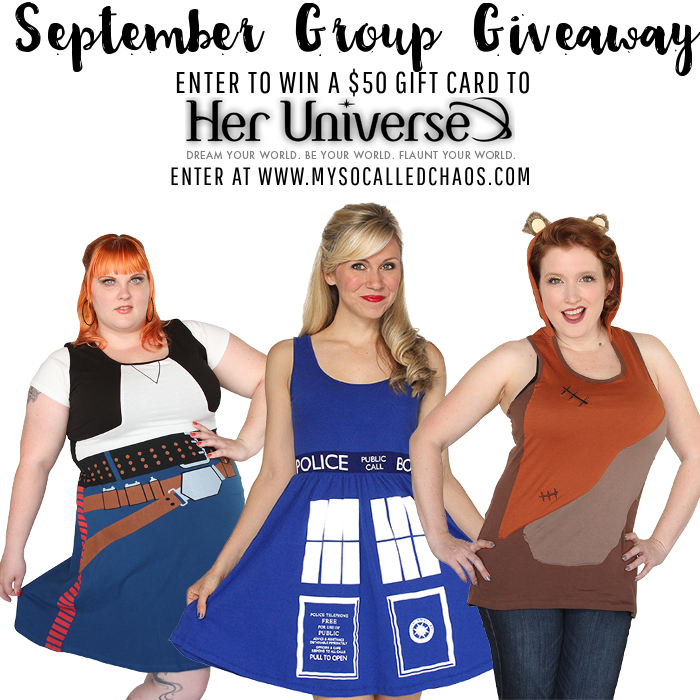 Enter to win $50 to Her Universe-nerd fashion for all shapes and sizes!