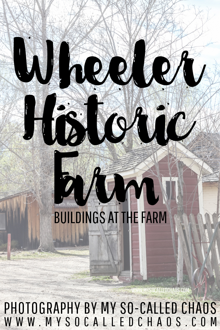 Farm Buildings at Wheeler Historic Farm in Salt Lake City, UT