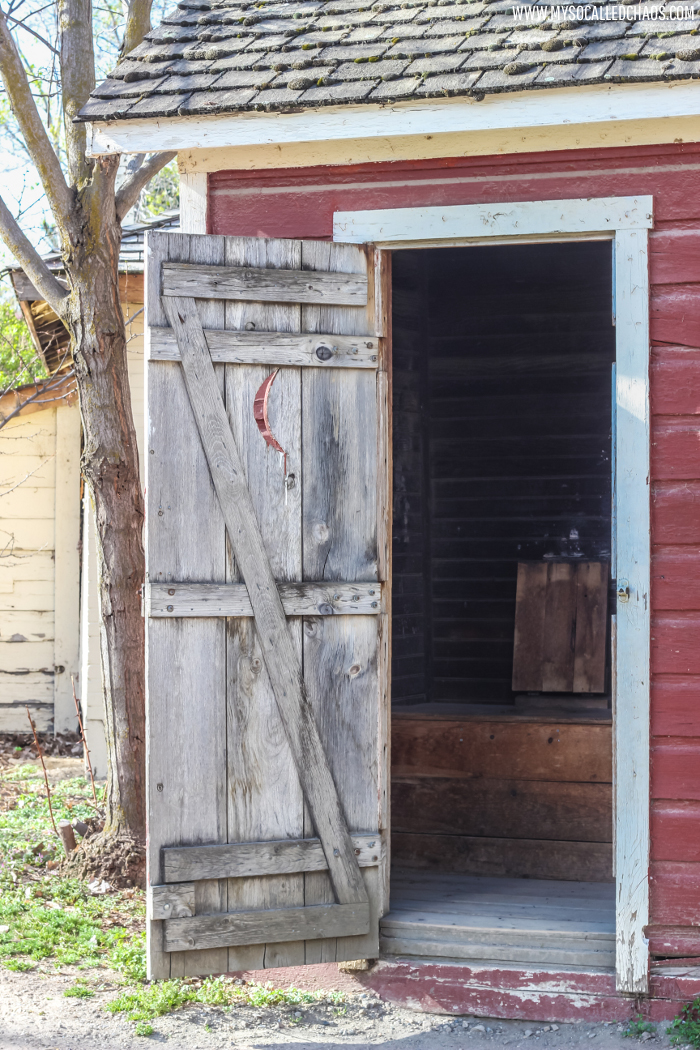 Old Outhouse at Wheeler Historic Farm in Salt Lake City, UT