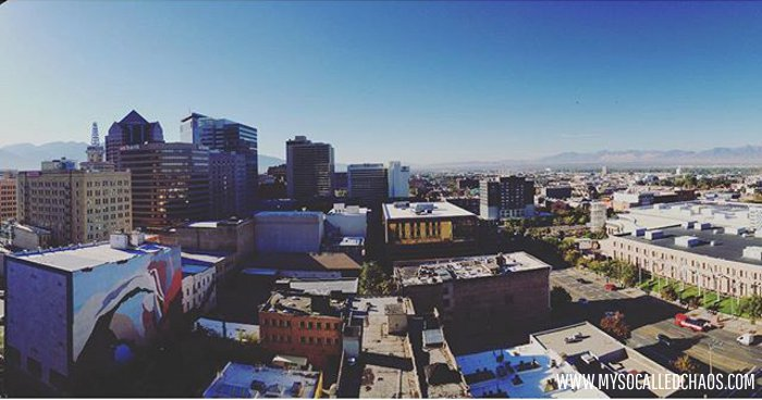View from The Marriott in Downtown SLC