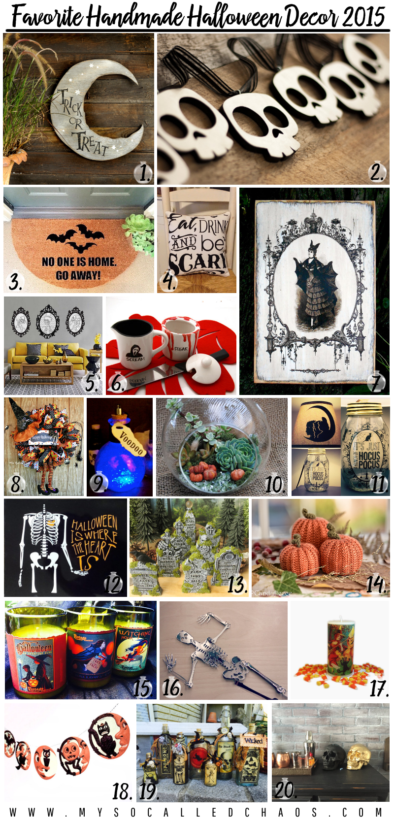Favorite Handmade Halloween Decor 2015