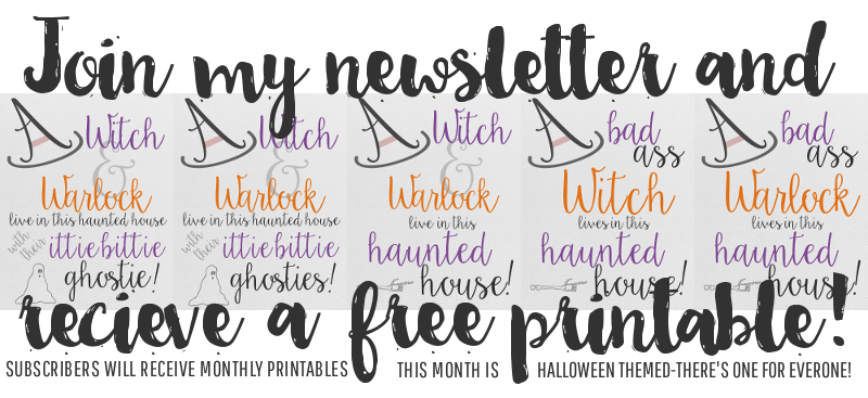 Join My Newsletter & Get a Free Printable