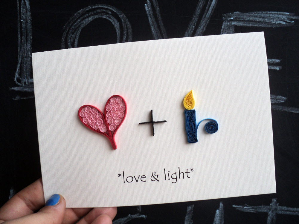 Love & Light Quilled Artwork