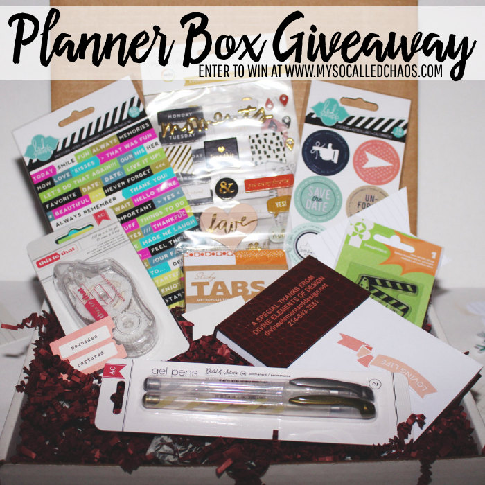 Enter to win a Planner Box from Divine Elements of Design