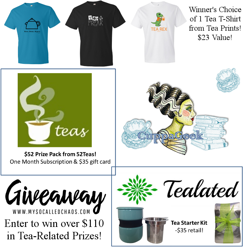Enter to win over $110 in tea-related goodies from CuppaGeek!