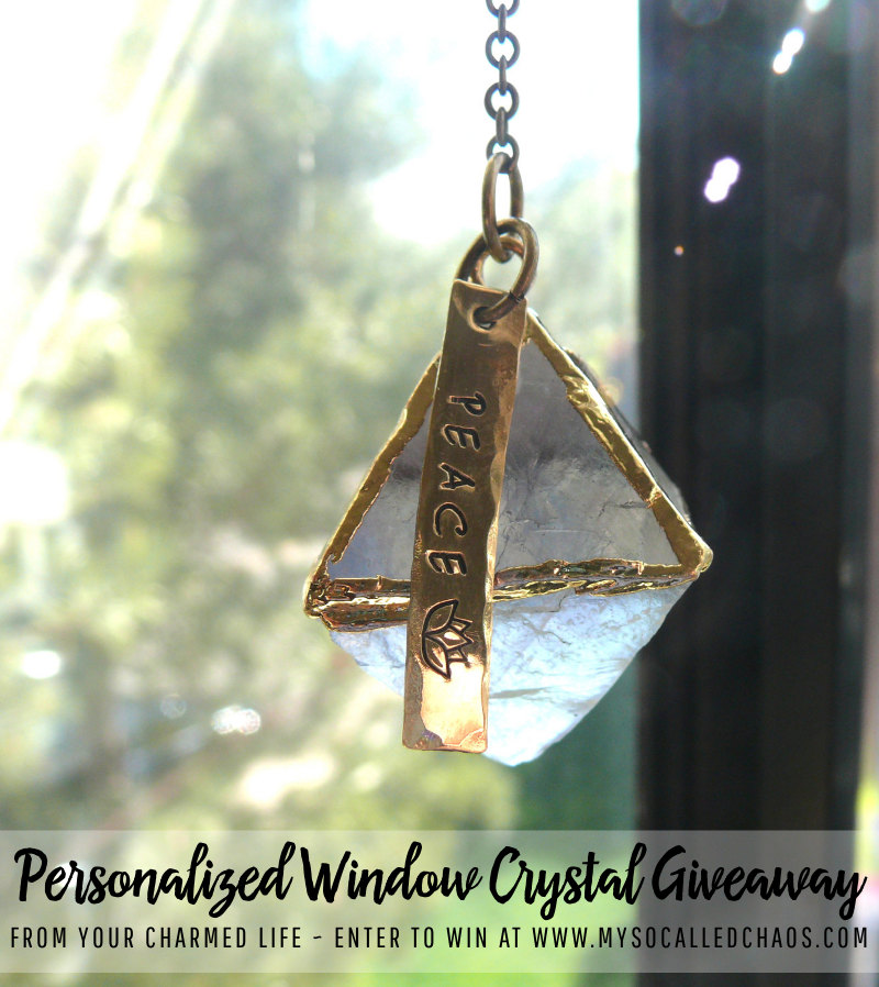 Enter to win a Personalized Window Crystal from Your Charmed Life