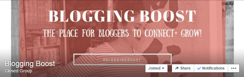 Blogging Boost Facebook Group