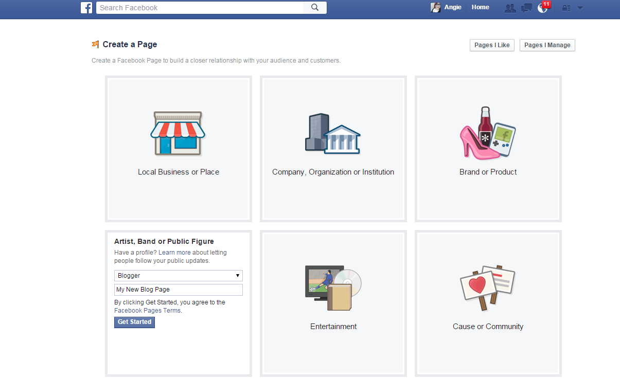Creating a Facebook Page for Your Blog
