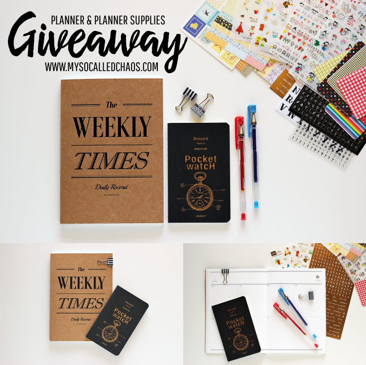 Planner & Planner Supplies Giveaway