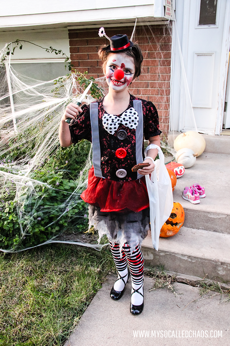 Kailee as a Crazy Clown