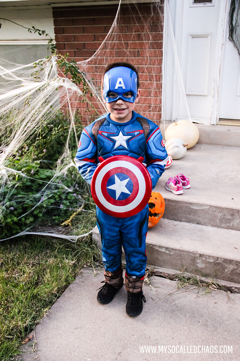 Jaxson as Captain America